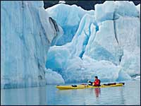 Iceberg sea kayaking, Alaska