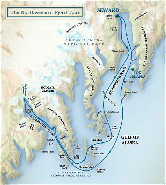 Resurrection Bay Alaska Map.Seward Gray Whale Watching Tour Kenai Fjords Tours